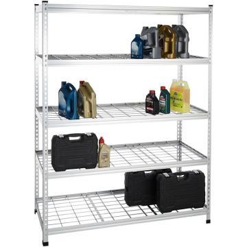 Basics 3-Shelf Shelving Storage Unit, Metal Organizer Wire Rack, Black (23.2L x 13.4W x 30H)
