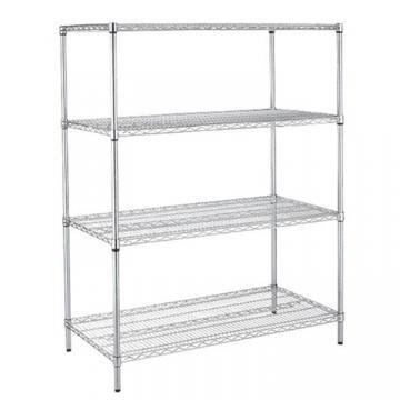 Ningbo Zhenzhi 3-Shelf Shelving Unit Stainless Steel Wire Mesh Wall Corner Metal Shelf