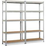 Heavy Duty Storage Rack Steel Shelf Units Boltless Plate Warehouse Racking