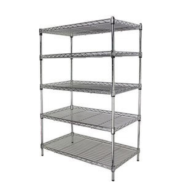 Light duty 4 tiers Metal storage rack living room wire mesh storage shelving metal rack #2 image