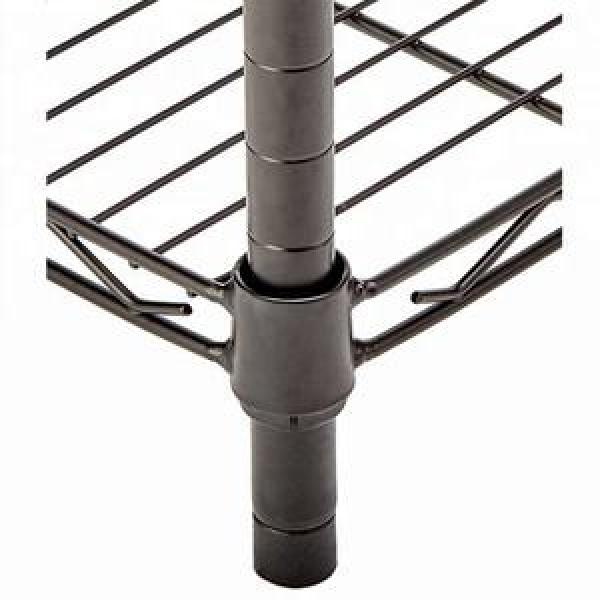 Adjustable Rolling Wire Rack Shelving with Wheels Metal Heavy Duty Storage Racks #2 image