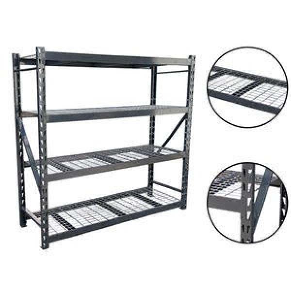 Light duty 4 tiers Metal storage rack living room wire mesh storage shelving metal rack #3 image