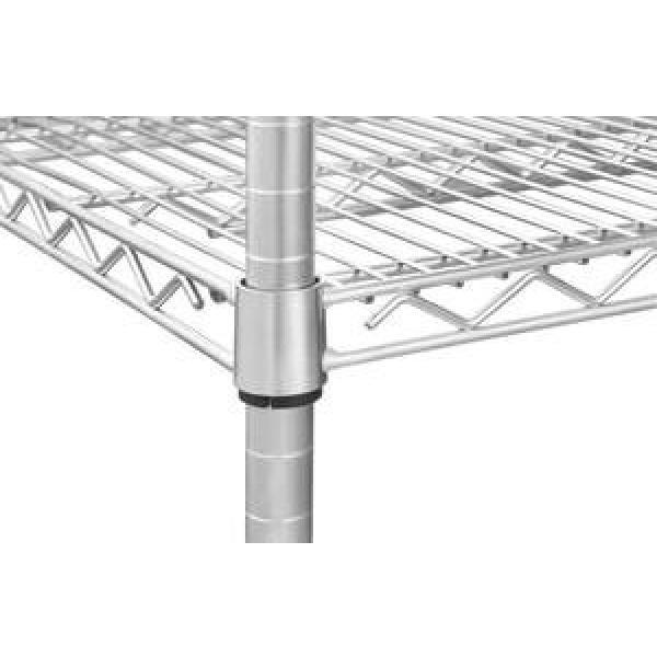 Black 3-Shelf Shelving Storage Unit Metal Organizer Wire Rack #2 image