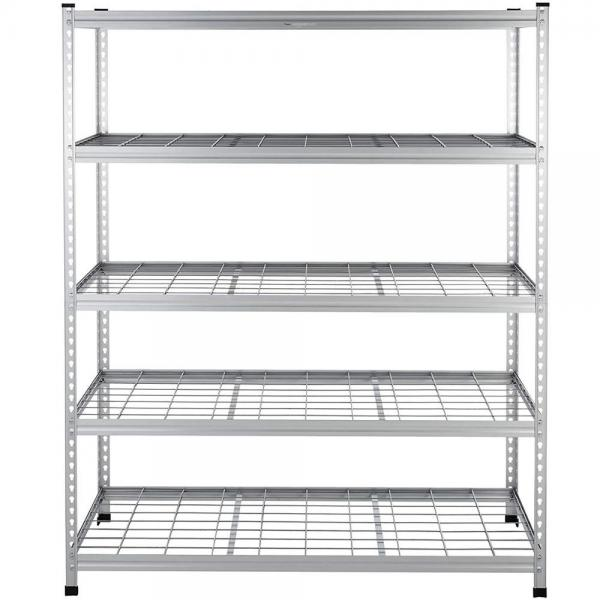 Foods Snack Wire Level Free Standing Display Shelf Stand Unit Wire Shelving with Wheels Display Unit Removable Sign Holder #2 image