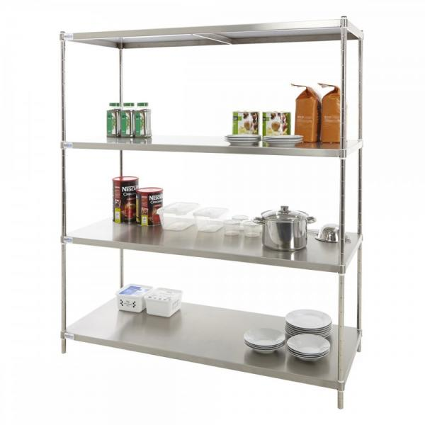 Foods Snack Wire Level Free Standing Display Shelf Stand Unit Wire Shelving with Wheels Display Unit Removable Sign Holder #1 image